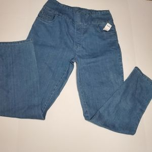 Straight leg stretchy denim jeans